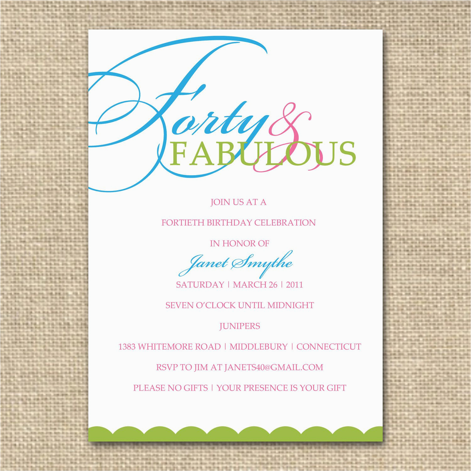 Birthday Party Invite Wording Adults Invitation Card