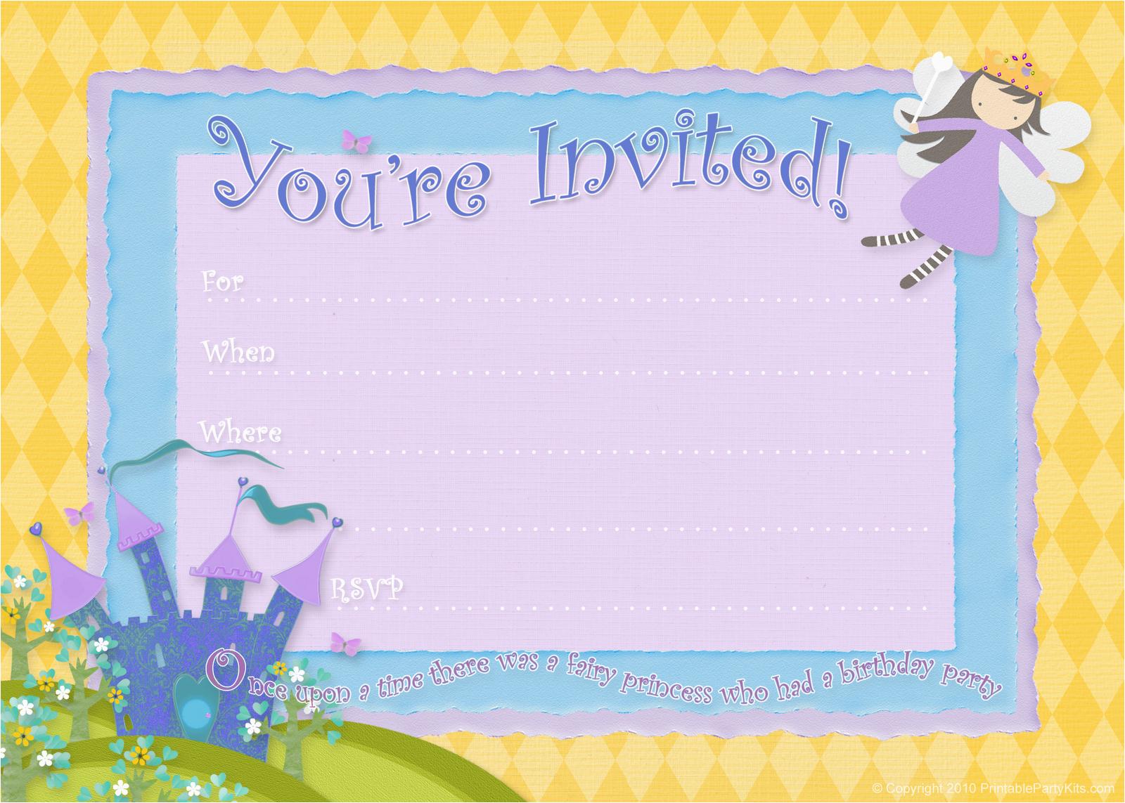 free birthday party invitations bagvania free printable
