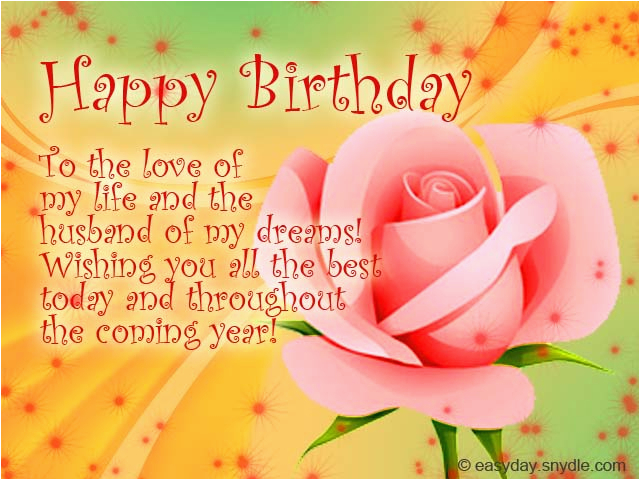 birthday messages for your husband easyday