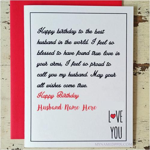 husband birthday wishes greeting name card create online