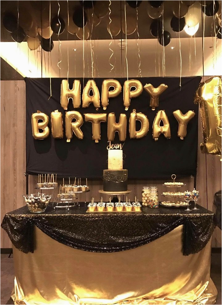 Black And Gold 30th Birthday Decorations 25 Best Ideas About Party On Pinterest