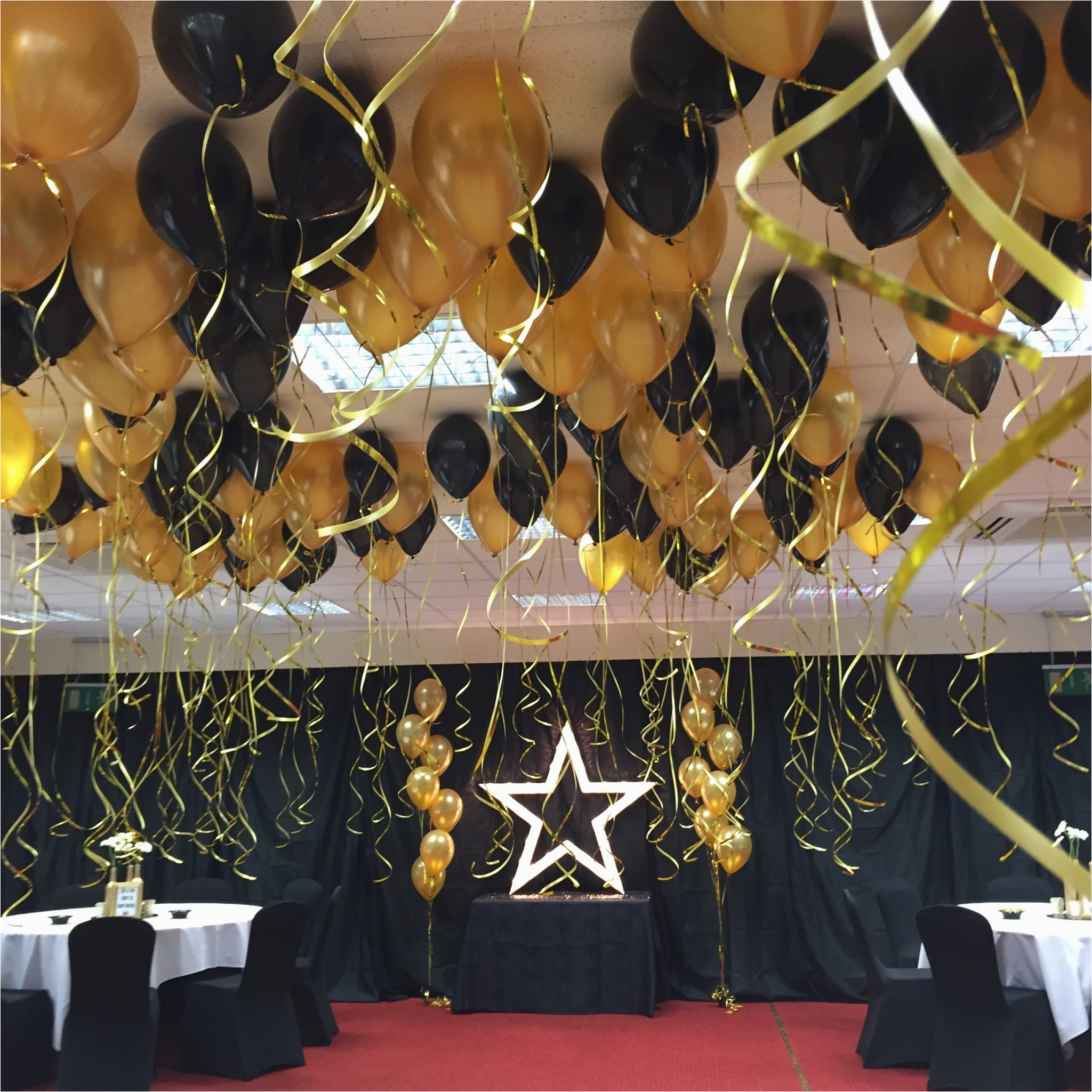 Black And Gold 50th Birthday Party Decorations Wedding Anniversary Quotemykaam