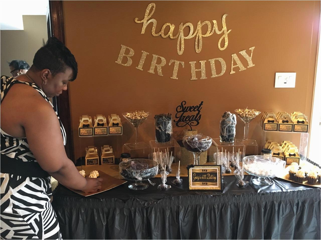 birthday party 60th birthday black and