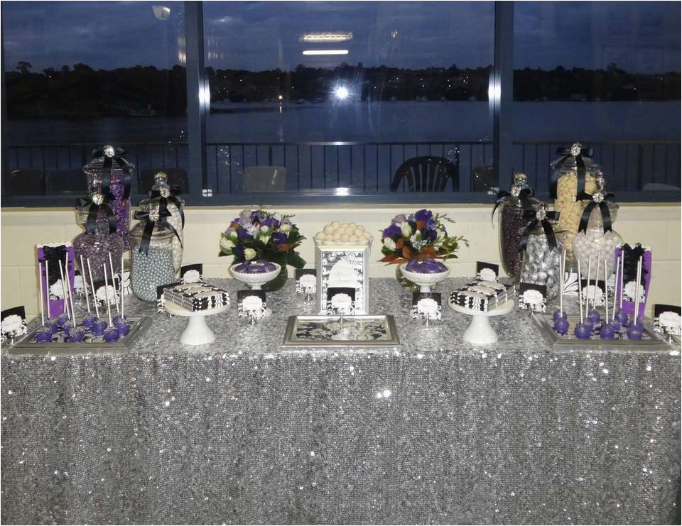 Black And Silver 21st Birthday Decorations Purple White Quot Erin 39 S