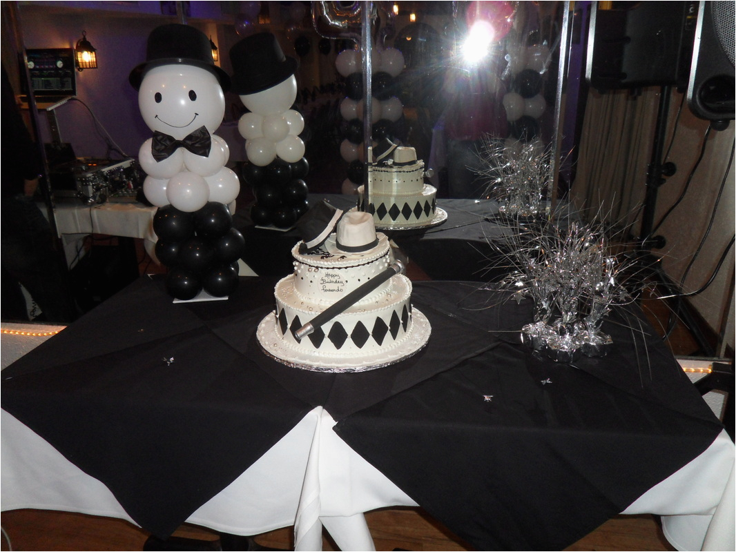 Black And Silver 21st Birthday Decorations White Party By Teresa