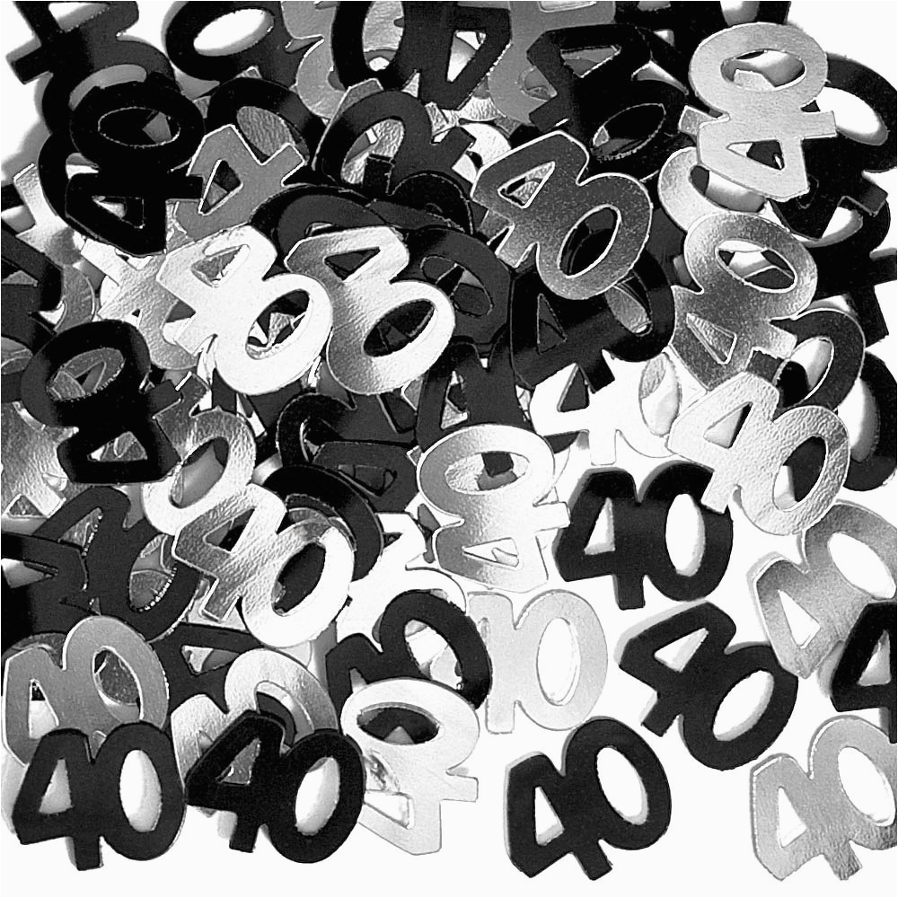 Black And Silver 40th Birthday Decorations Black And Silver 40th
