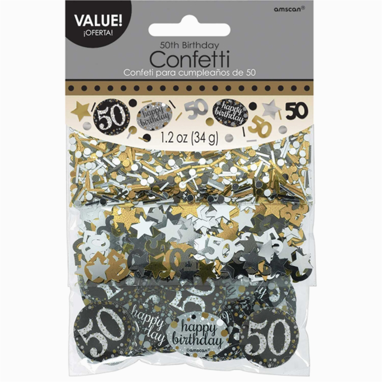 Black And Silver 50th Birthday Decorations Confetti Table Decoration Sprinkle