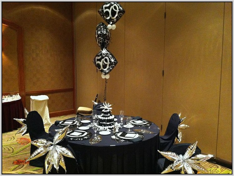 Black And Silver 50th Birthday Party Decorations