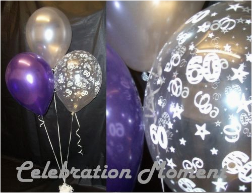 Black And Silver 60th Birthday Decorations Balloon Party Decoration Purple 15