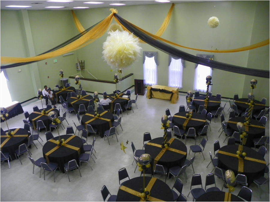 60th birthday decorations black and gold