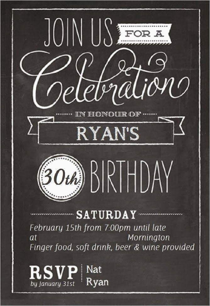 Black And White 30th Birthday Invitations Free Templates Invitation