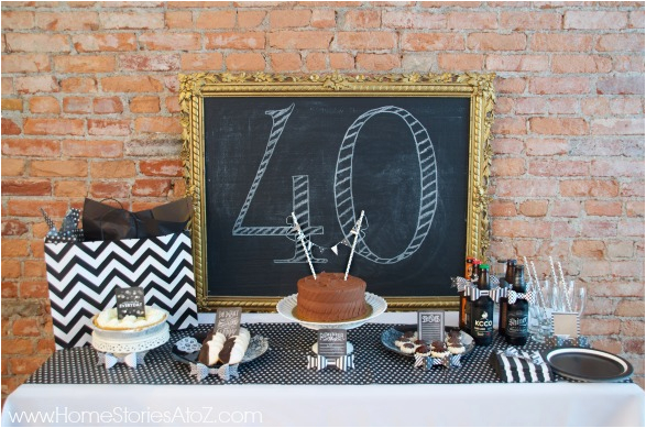 Black And White 40th Birthday Party Decorations 40th Birthday Party