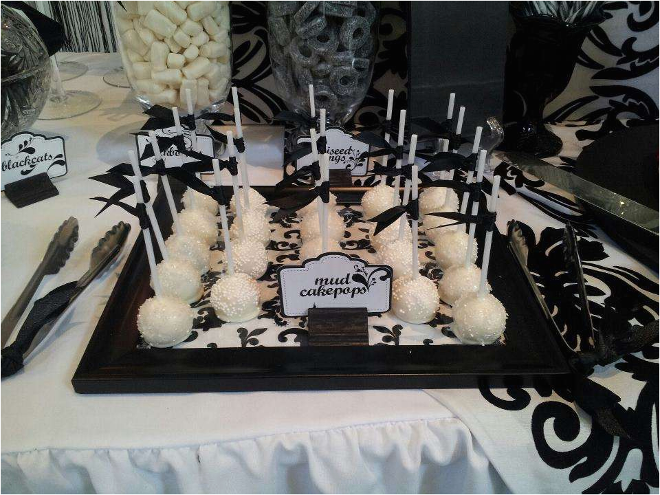 Black And White 40th Birthday Party Decorations Ideas Photo 1 Of