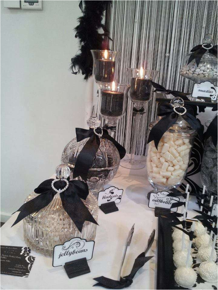 Black And White 40th Birthday Party Decorations Ideas Photo 8 Of