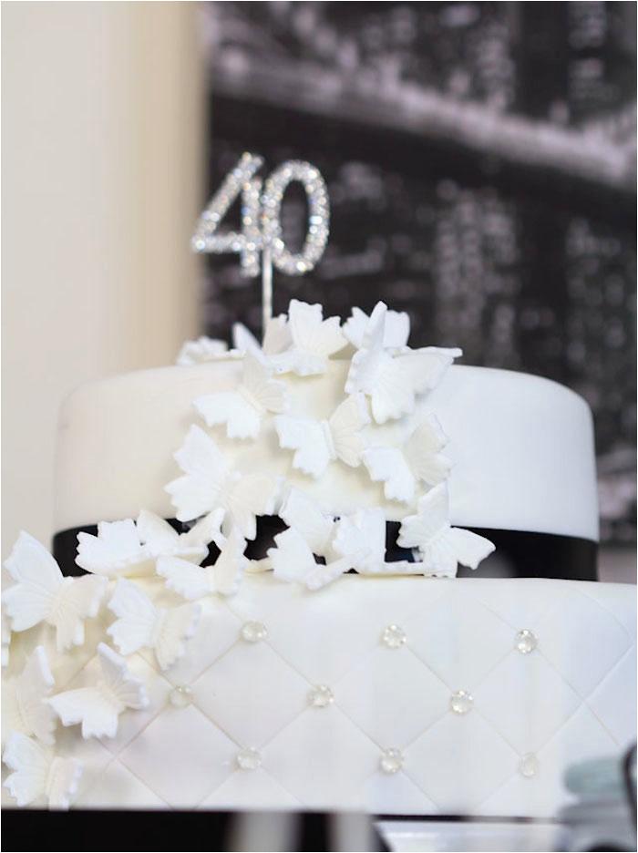 Black And White 40th Birthday Party Decorations Kara 39 S Ideas Stylish