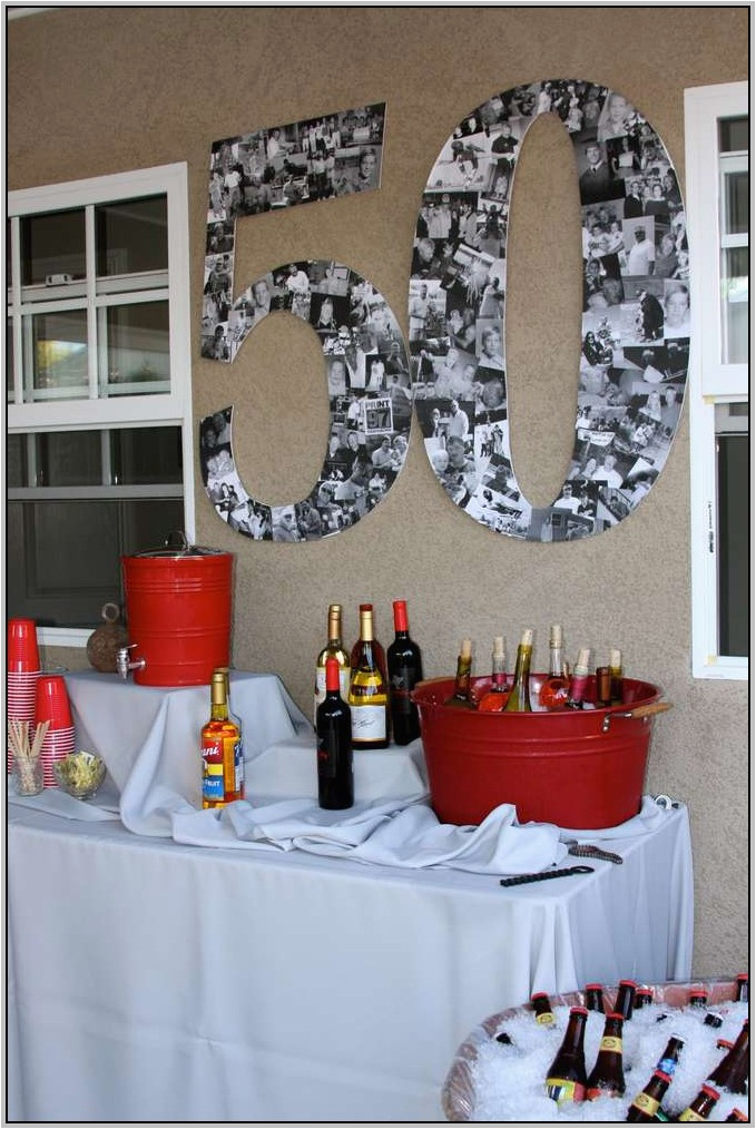 Black And White 50th Birthday Decorations Party For Him Decorating