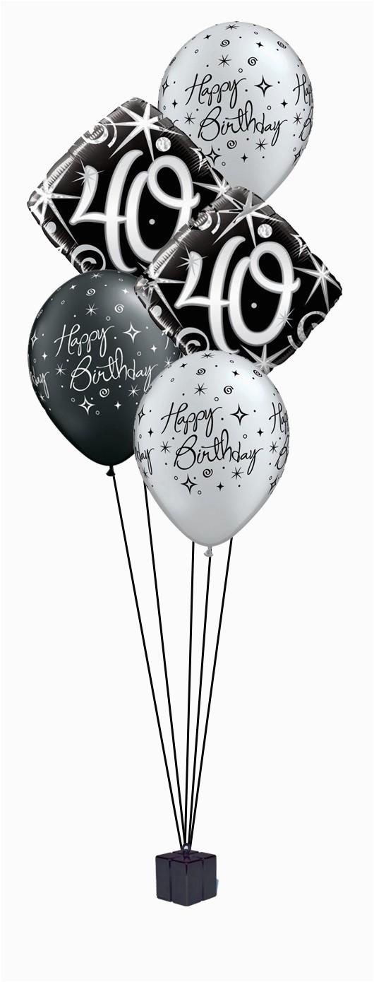 elegant 40 birthday balloon bouquet