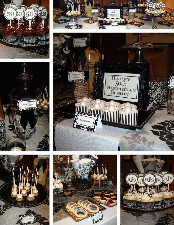 Black And White 50th Birthday Party Decorations 17 Best Images About Over The Hill Ideas