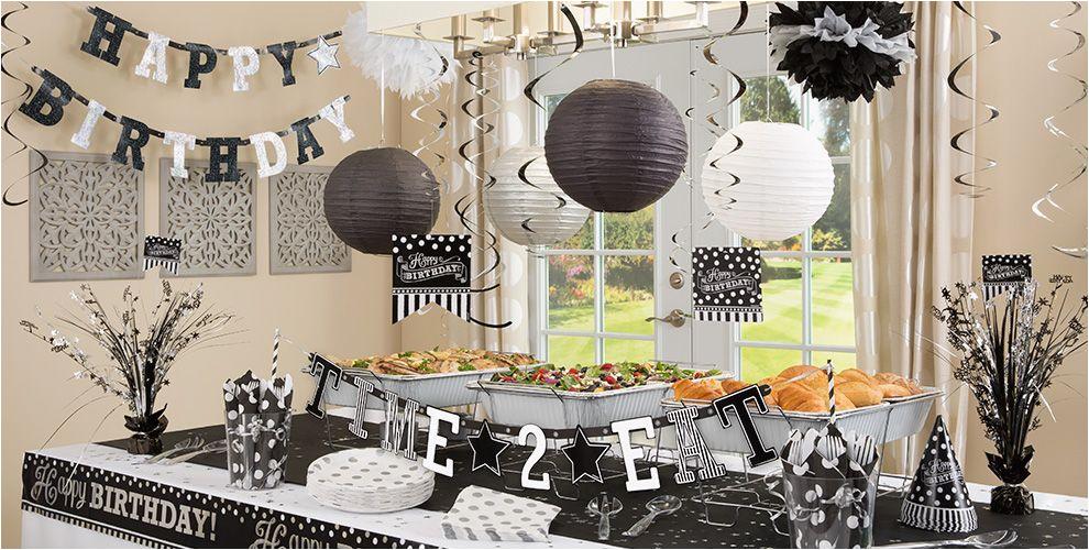 Black And White 50th Birthday Party Decorations Black White Birthday