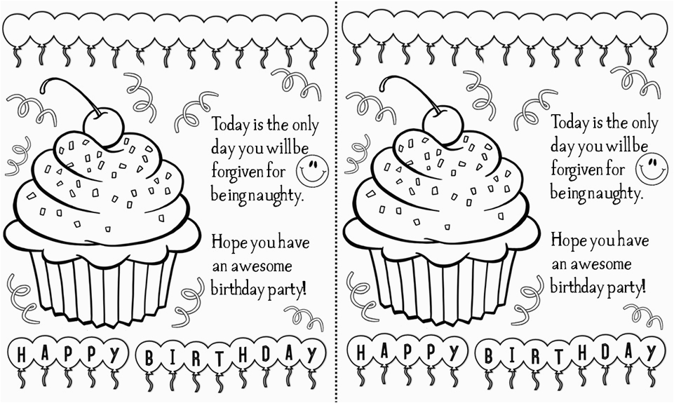 Black And White Birthday Cards Printable 5 Best Images Of