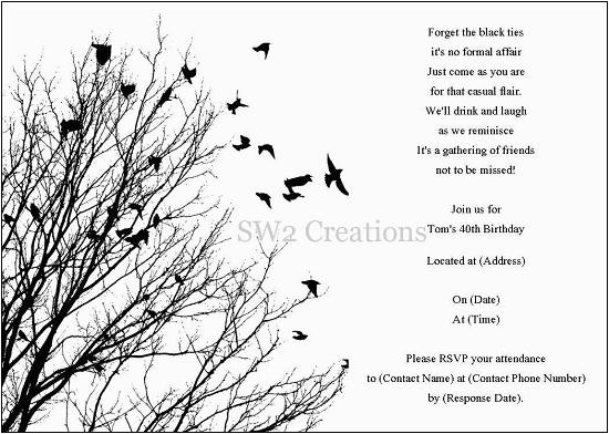 Black And White Birthday Cards Printable Invitations Ideas Bagvania Free