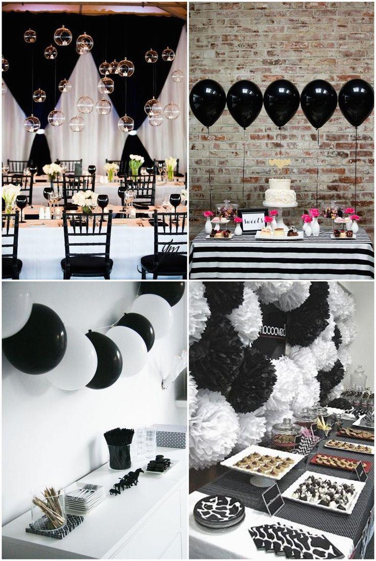 black white parties
