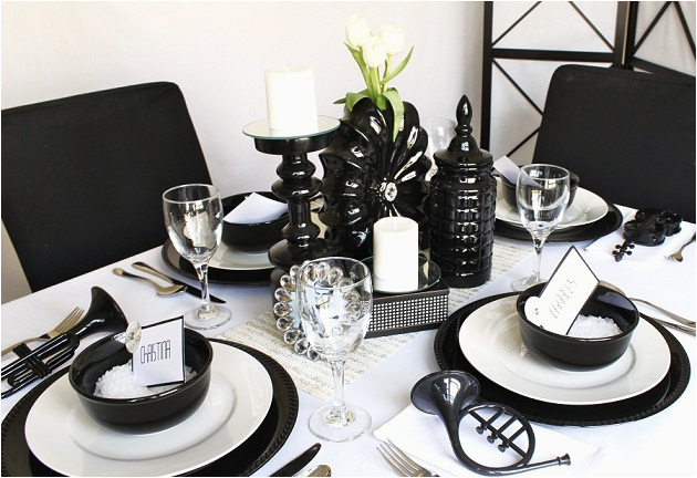 ideas for a black white party
