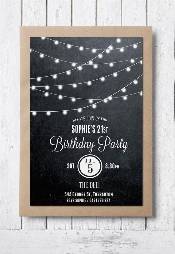 birthday invitation 21st birthday invite