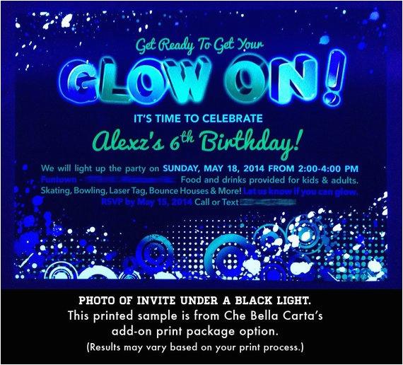 blacklight party invitations shtml