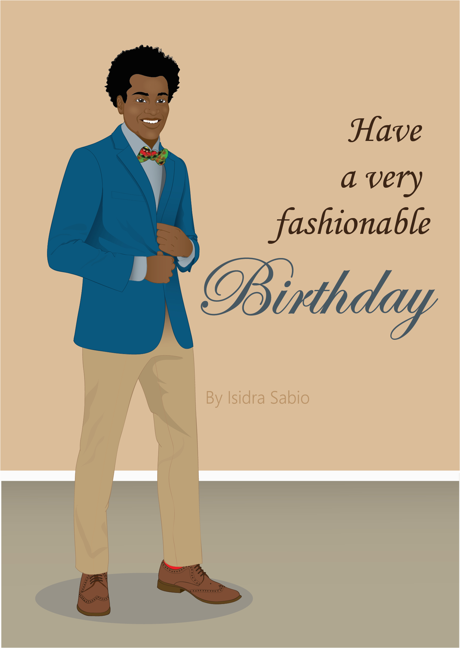 birthday man have a fashionable birthday card