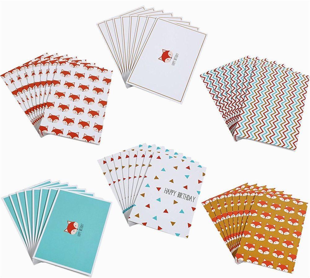 48 happy birthday and blank greeting cards bulk assortment