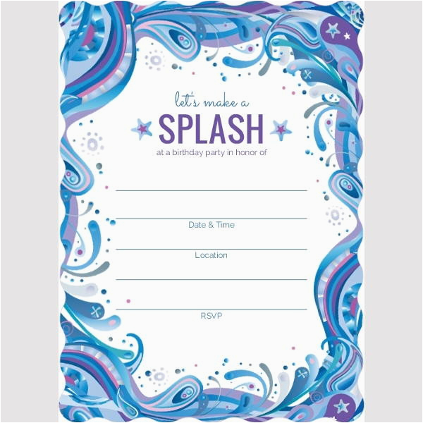 Blank Birthday Invitations To Print First