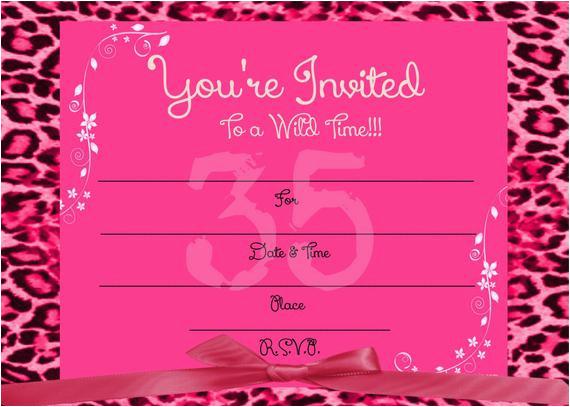 printable girls blank hot pink cheetah