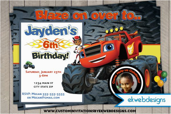 Blaze And The Monster Machines Birthday Invitations Nick Jr Printable Invites