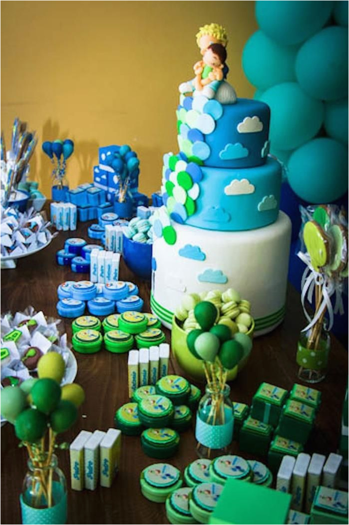 blue and green party decoration ideas