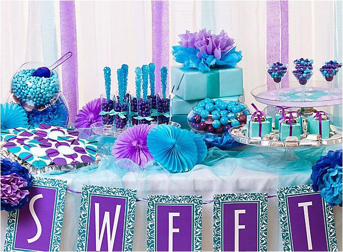 purple blue candy buffet do
