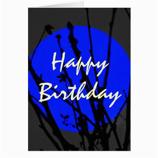 blue happy birthday cards zazzle