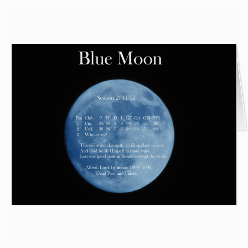Blue Moon Cards Birthday Blue Moon Birthday Card Zazzle