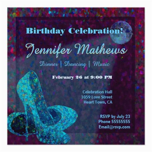 blue moon dancing shoes birthday celebration card zazzle