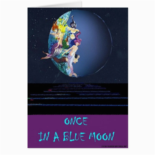 once in a blue moon card zazzle