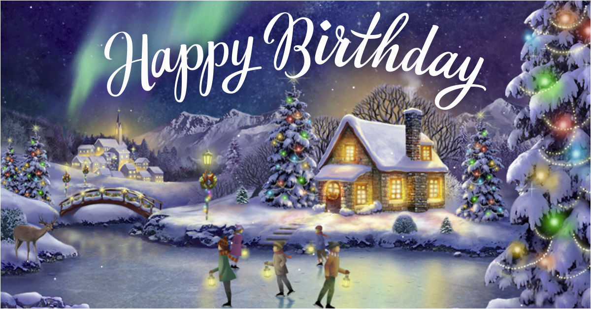 quot yuletide birthday interactive quot christmas ecard blue