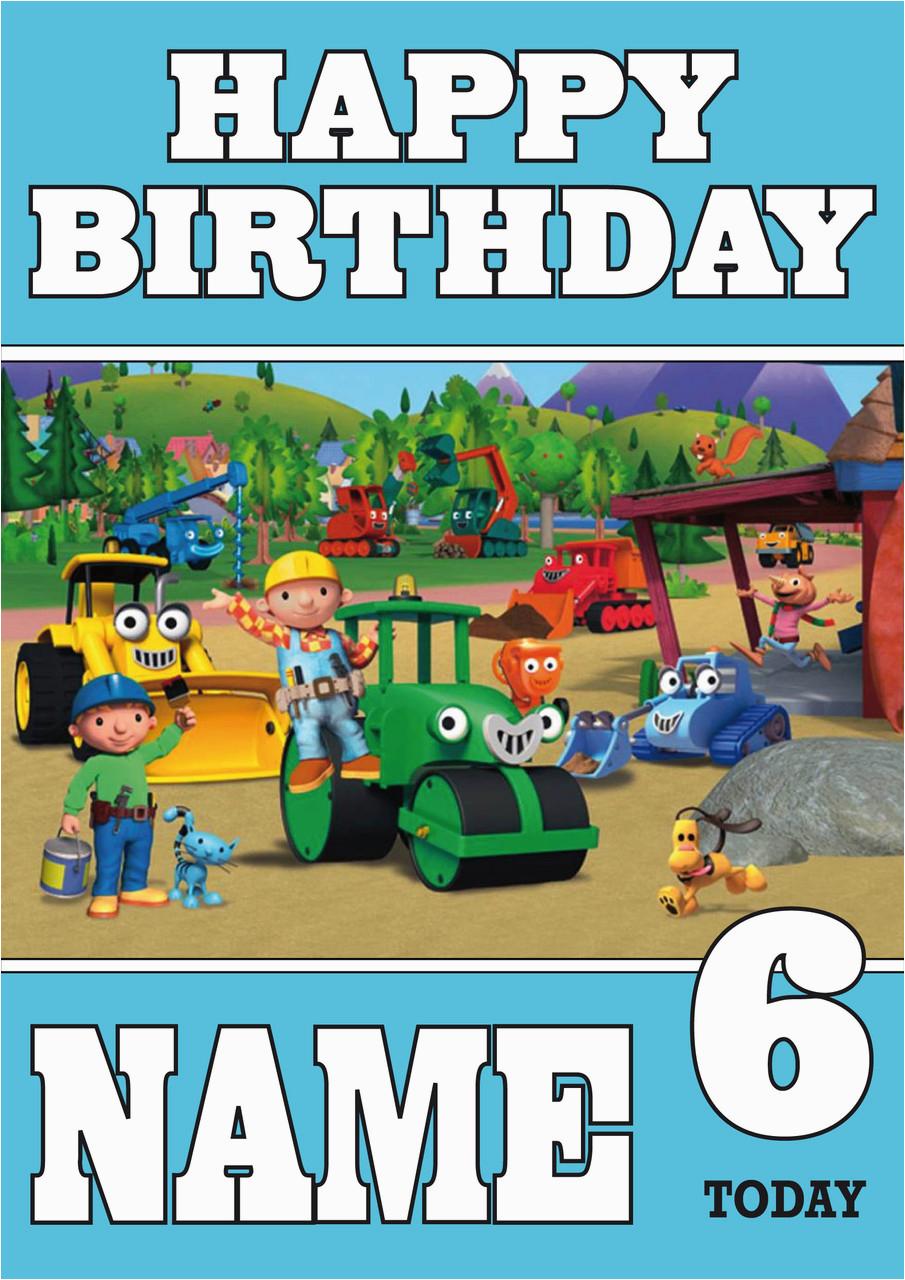Bob The Builder Birthday Card