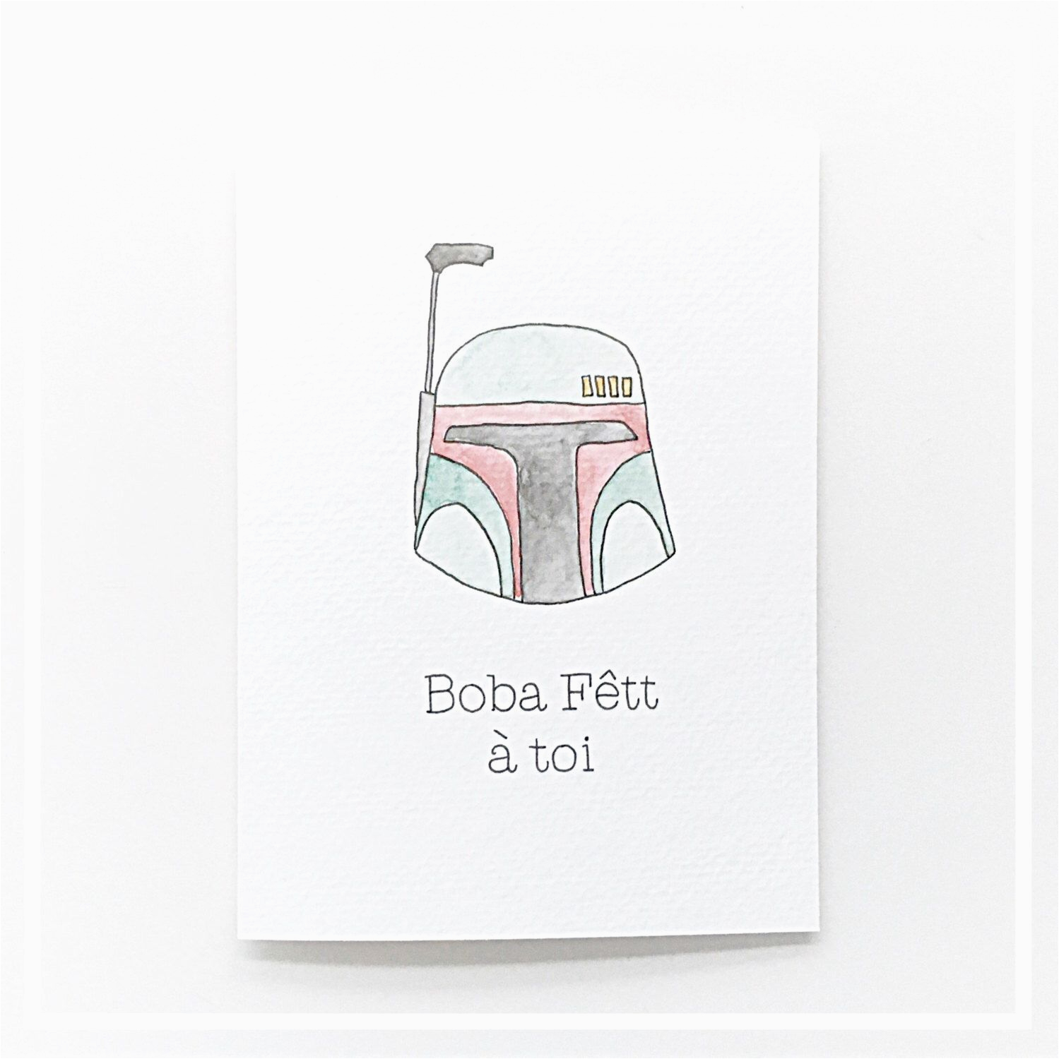 boba fett a toi punny birthday cards french card star
