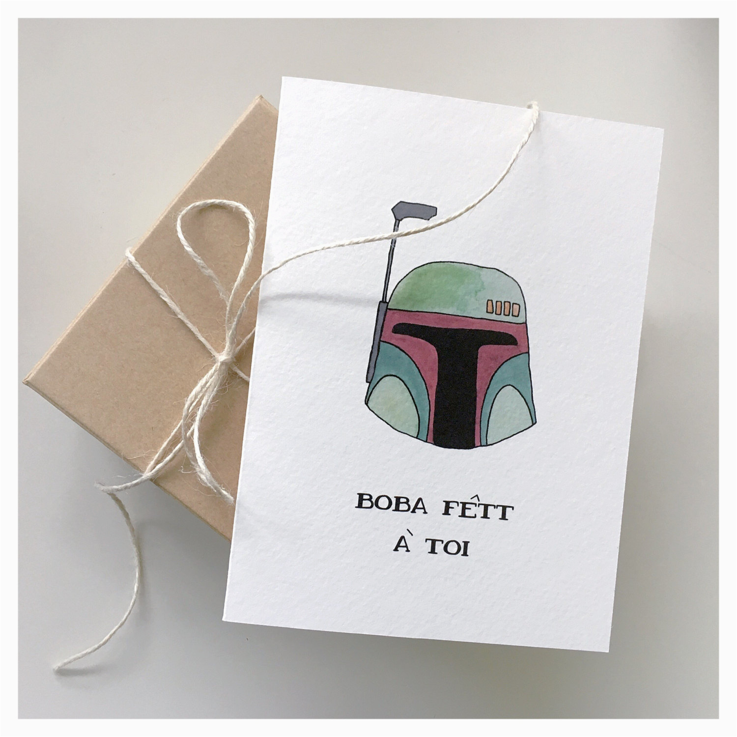 boba fett birthday card funny birthday card french