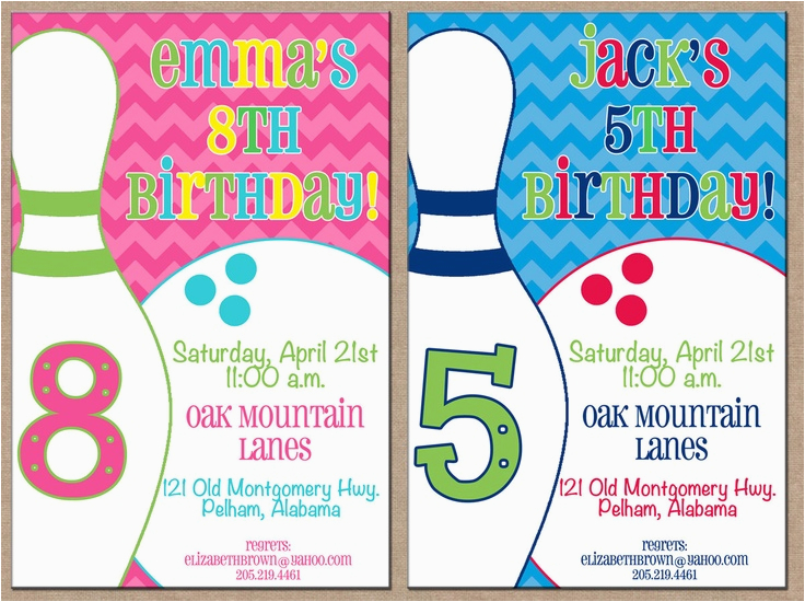 Bowling Alley Birthday Party Invitations 17 Best Images About On Pinterest