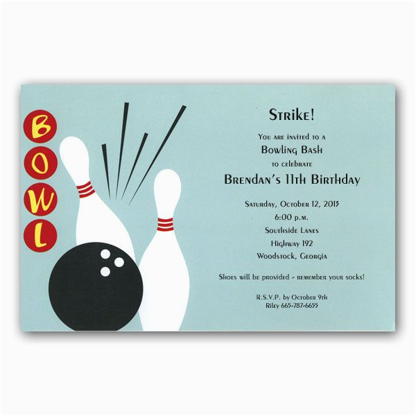 bowling alley invitations p 39 1 1452
