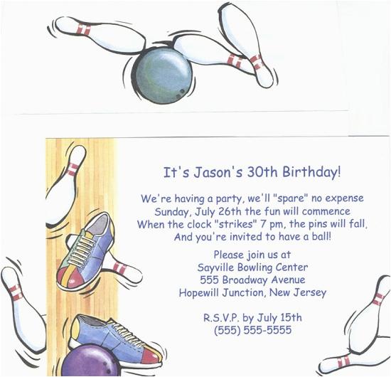 Bowling Birthday Party Invitation Wording Bowling Birthday Party