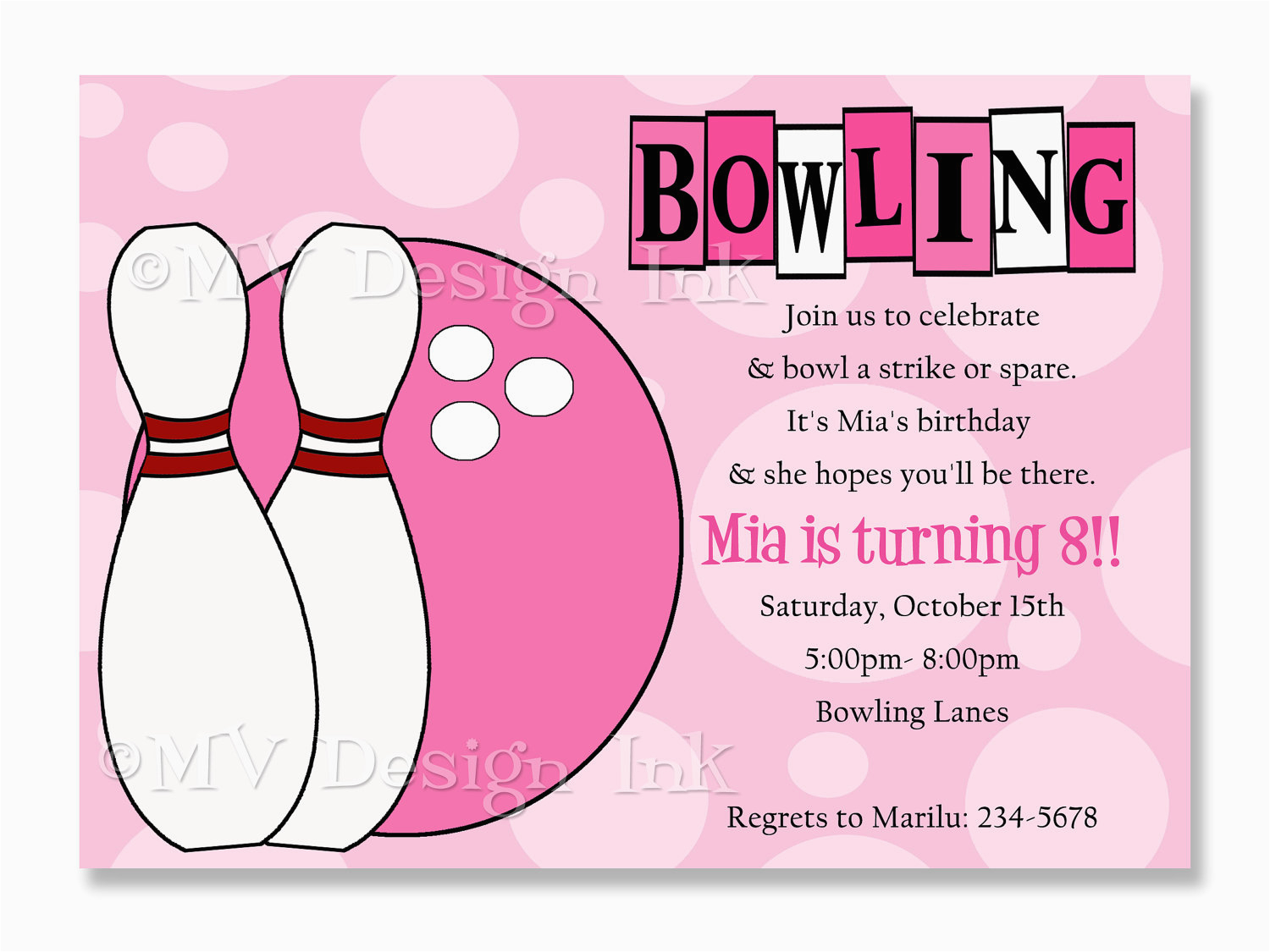 Bowling Birthday Party Invitation Wording Invitations Templates Ideas