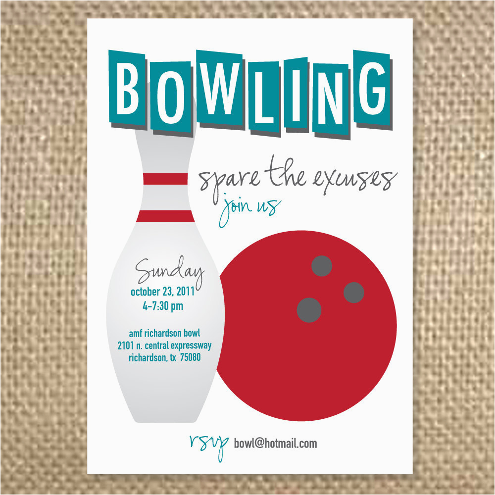 Bowling Birthday Party Invitation Wording Like This Item Images Frompo