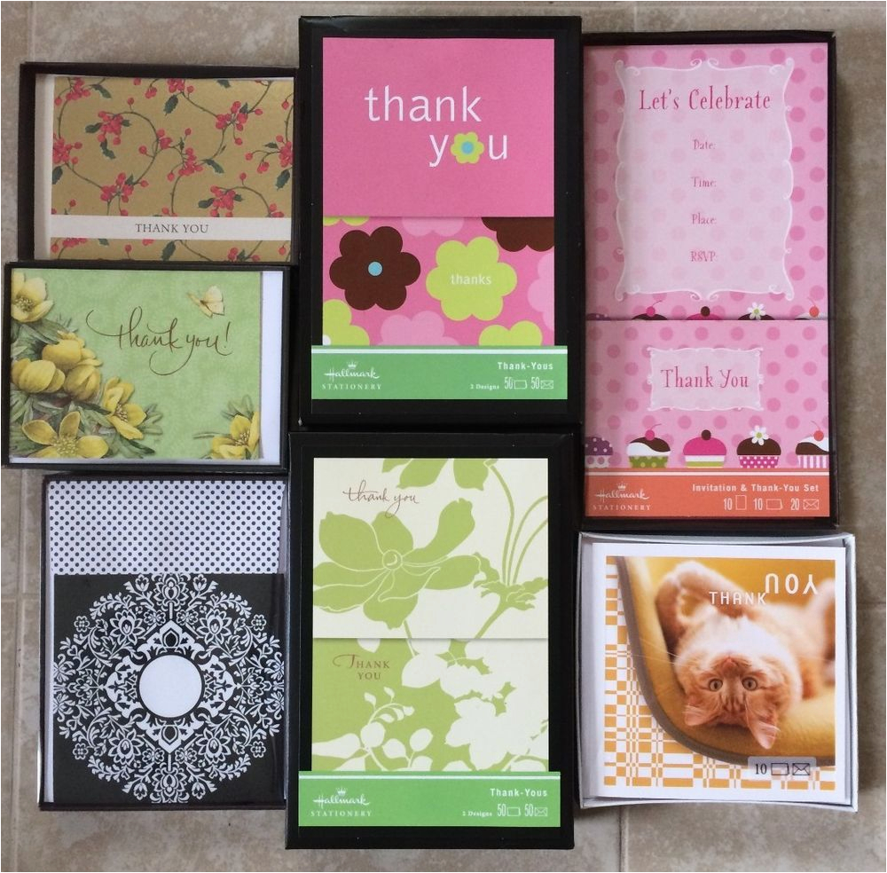 boxed hallmark greeting cards blank thank you